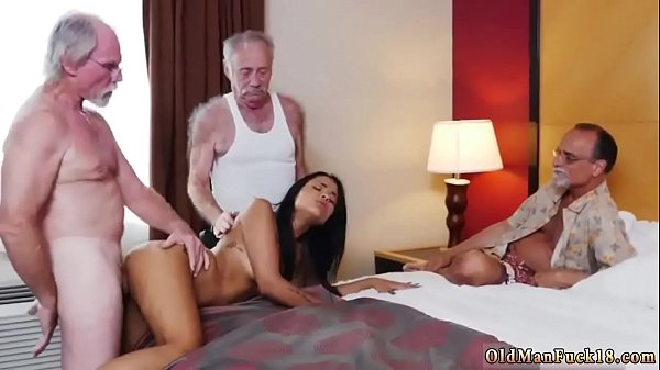 Spanking girl, Old and young, Cumshots, Young and old