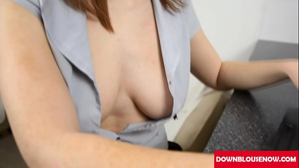 Downblouse, Saggy, Red head