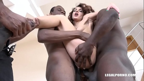 Double anal, Interracial anal