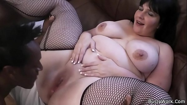 Fishnet, Riding cock, Big tit black