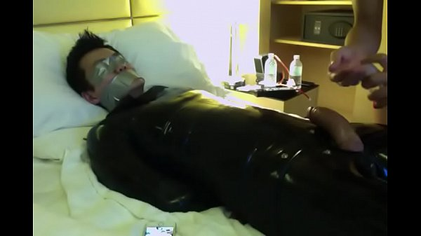 Suit, Gagged, Asian masturbation